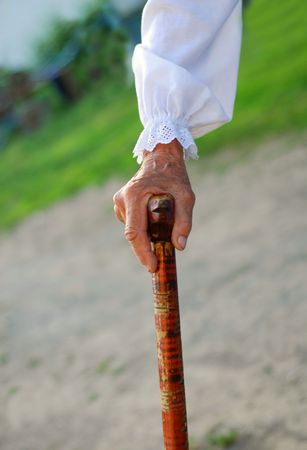 old hand of a woman photo