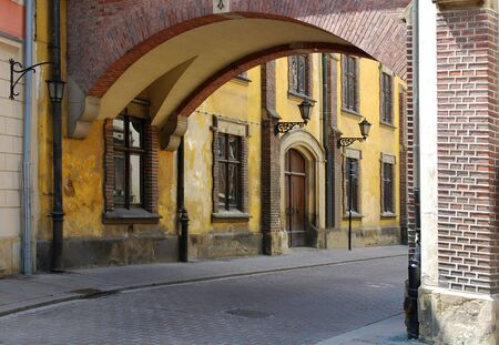 Pijarska Street in the old city in Cracow. Poland
