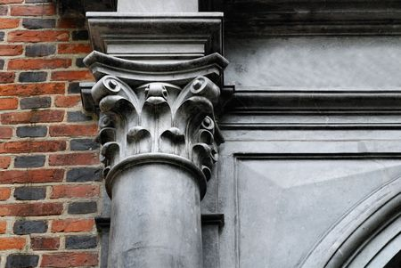 Architectural details of cathedral in Sandomierz, Poland. Stock Photo