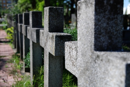 'second world war': Polish military cemetery of second World War  Stock Photo