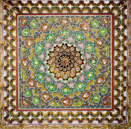 majolica: Dome with traditional islamic ornament in Bukhara