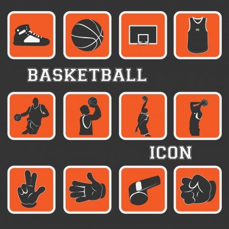 농구 좋은 아이콘과 그림 전체 컬렉션 집합
