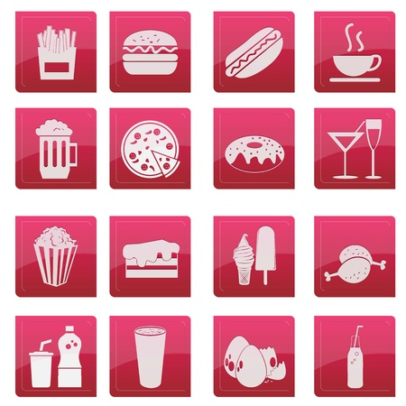 Food Icon Pink  Vector