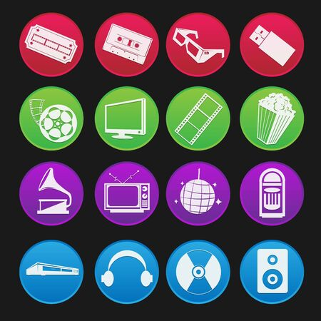 flashdisk: Movie and Music Entertainment Icon Gradient Style