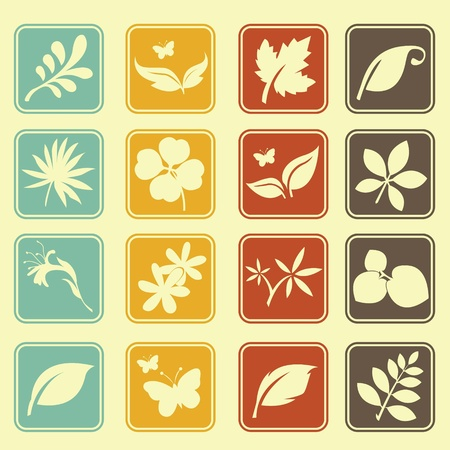 Natural Leafs Icon Basic Style Stock Vector - 18002024