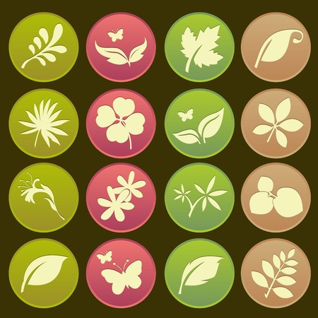 Natural Leafs Icon Gradient Style Stock Vector - 18002034