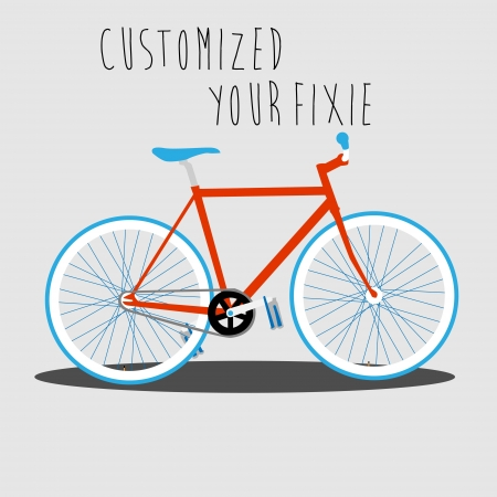 Customized Your Fixie   Stock Vector - 18002021
