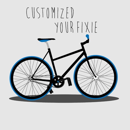 Customized Your Fixie   Stock Vector - 18002020
