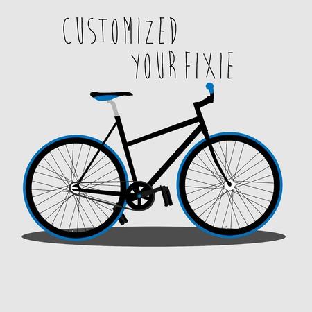 Customized Your Fixie Stock Vector - 18002020
