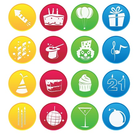 Party Icon Gradient Style Stock Vector - 18002042