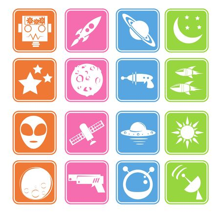 Space icon basic style Stock Vector - 18002022