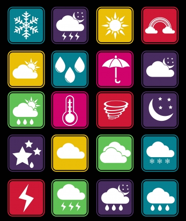 Weather effect icon basic style Vector