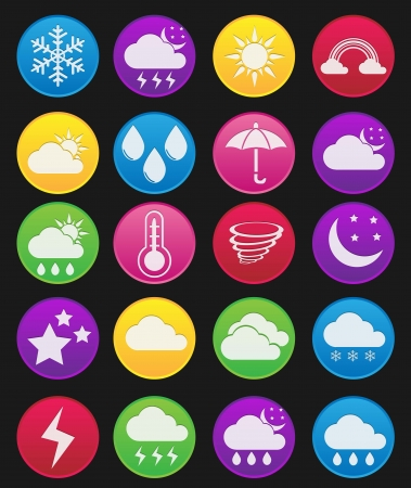 weather terms: Weather effect icon gradient style
