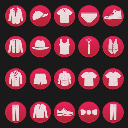 mann unterw�sche: M�nner Kleidung Modeartikel Serie 2 Illustration