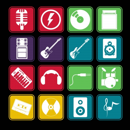 Band Music Icon Basic Style Illusztráció