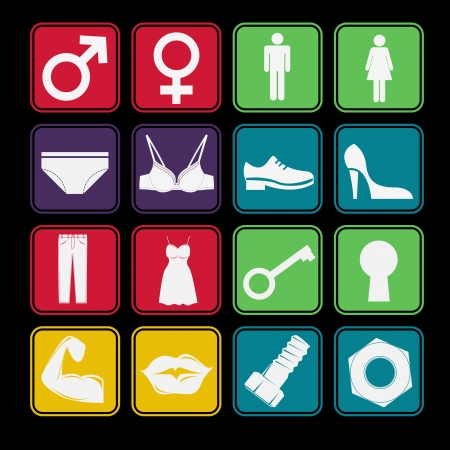 Toilet Sign Icon Basic Style Stock Vector - 18068975