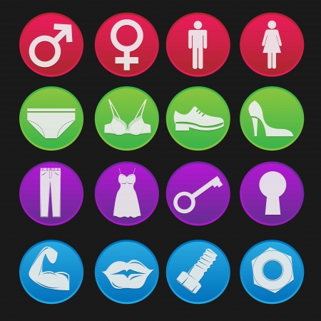 Toilet Sign Icon Gradient Style Stock Vector - 18068978