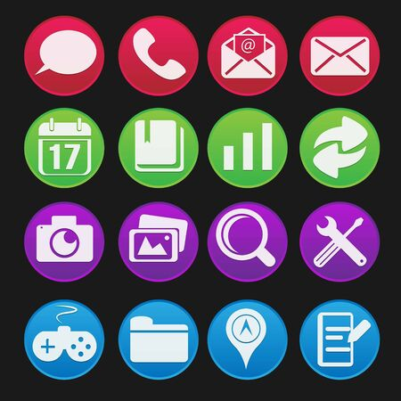 Mobile Phone Icon Gradient Style