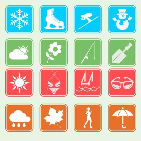 Season Icon Basic Style Stock Vector - 18138656