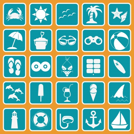 Spring Break Icon Basic Style Vector