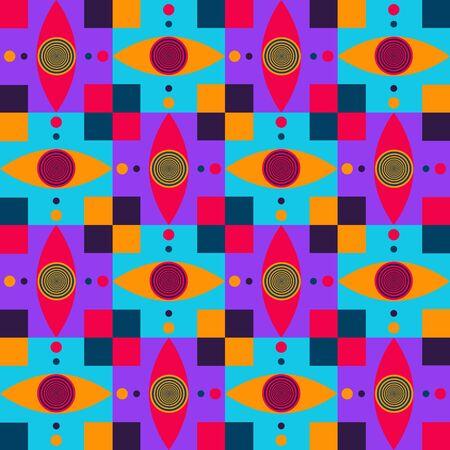 dizzy eyes pettern Illustration