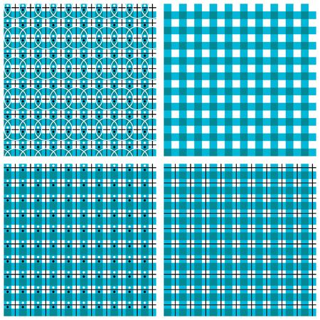 Four simple pattern square line and circle Stock Vector - 18173526