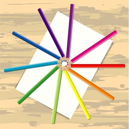 adn: L�piz color sobre papel adn escritorio