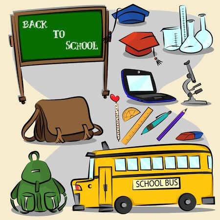 Back to school icon set 2 Vector