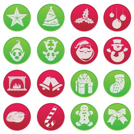Cute Christmas Icon Pictogram Stock Vector - 18879696