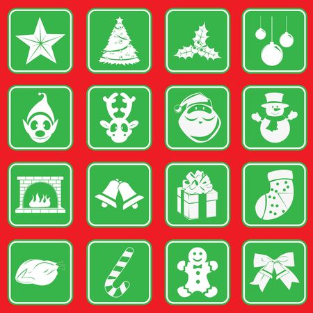 Christmas icon pictogram Vector