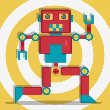 Retro Robot 1 The Dacer Illusztráció