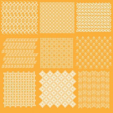 자바어 패턴 바틱의 완전한 컬렉션 집합