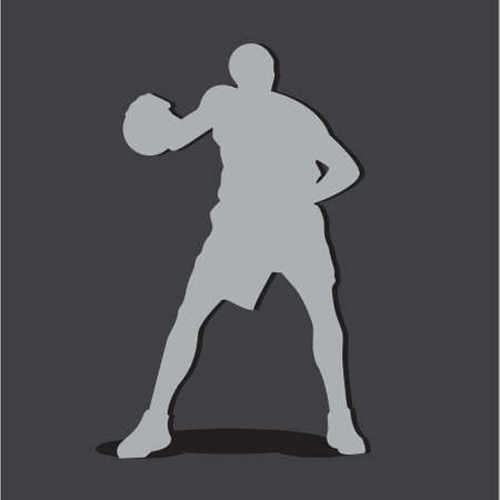 basketball dunk: Basketball Player silhouette