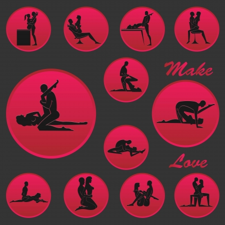 Make Love Position Icon 1 Stock Vector - 19019427