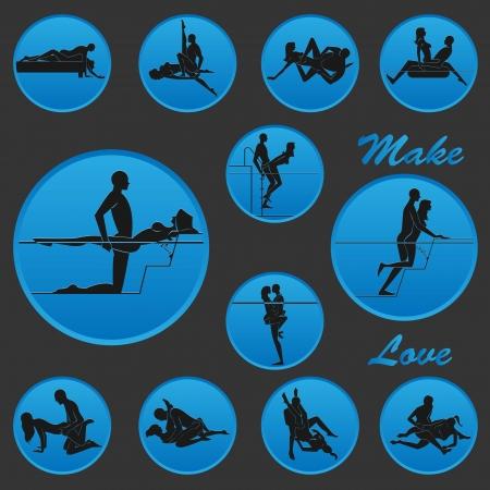 Make Love Position Icon 2 Stock Vector - 19019436