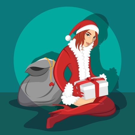 Sexy girl wearing santa costume 4 Stock Vector - 19151546