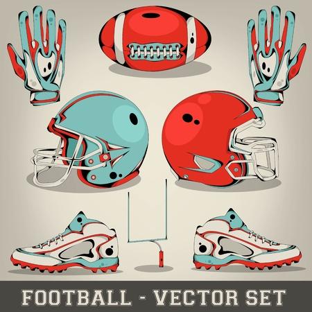 American football vector set Stock Vector - 19375829