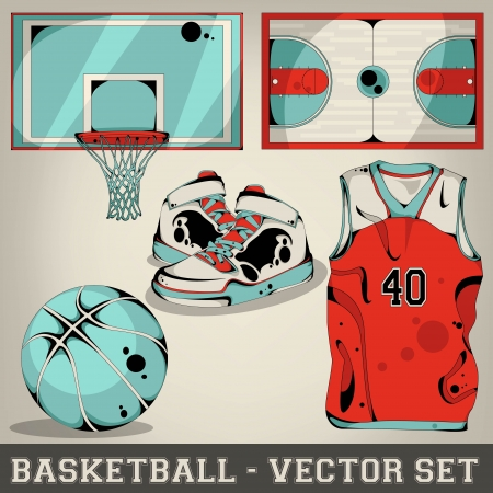 Basketball vector set  Illustration