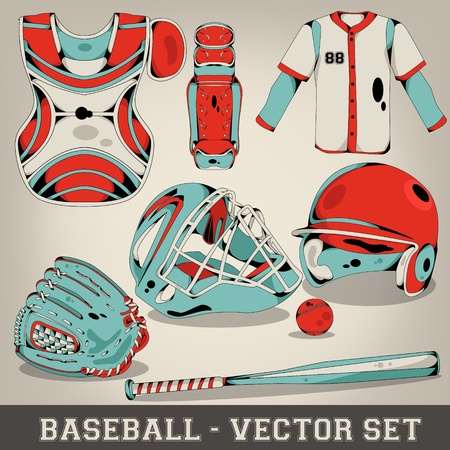 Baseball Vector Set Stock Vector - 19588853