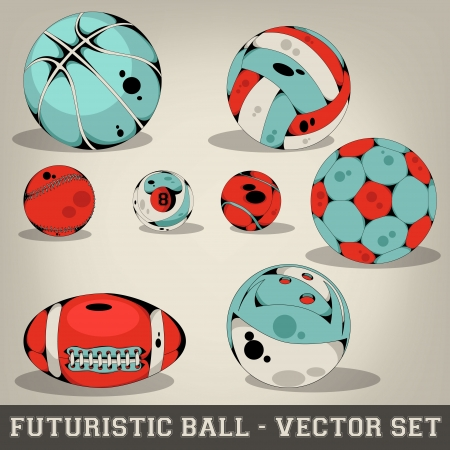 Futuristic Ball Vector Set Vector