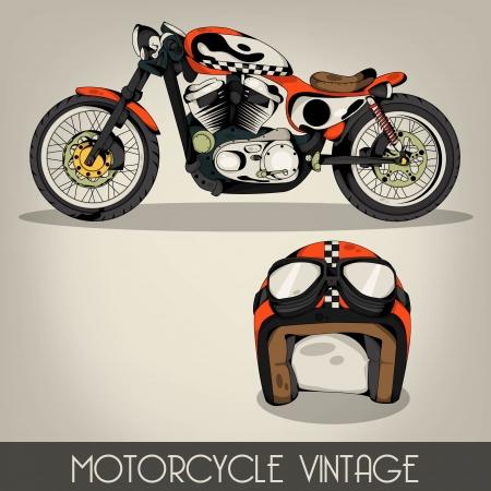 motorcycle rider: Vintage Motorcycle