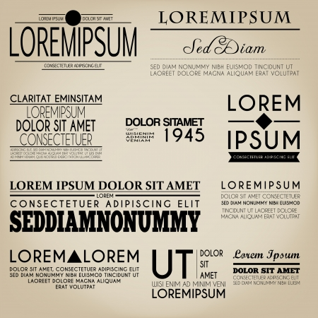 Tipografía Label Design Estilo Vintage Foto de archivo - 21422165