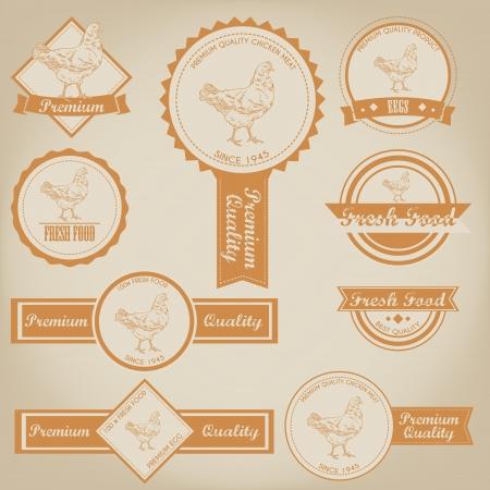 닭 고기 라벨 디자인