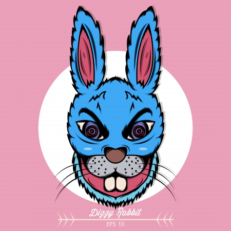 Dizzy Rabbit Vector