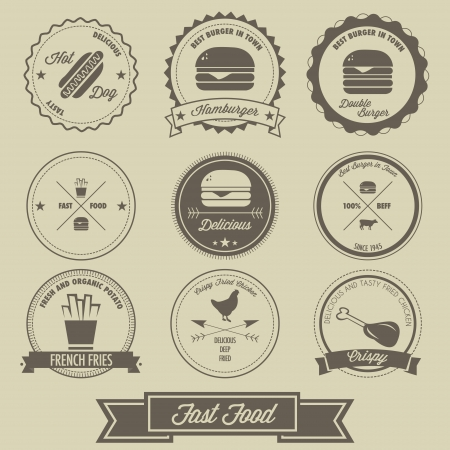 food shop: Fast Food Label Vintage