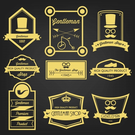 Gentleman Shop Vintage Label Stock Vector - 24054597