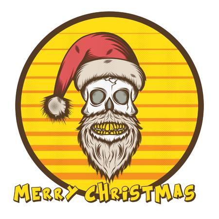 Skull Santa Illustration