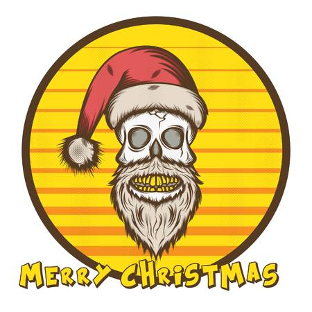 Skull Santa Illustration