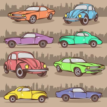 Cartoon Car Collection Stock Vector - 24249103