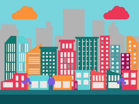 everyday scenes: Flat City Scene